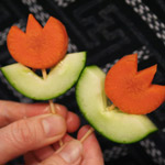 Thumbnail image for How to make vegetable flowers