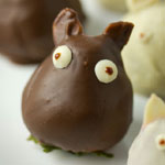 Thumbnail image for Non-bento #44: Chocolate covered strawberry Totoro