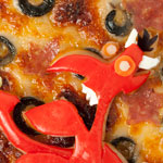 Thumbnail image for Non-bento #40: Twisp and Catsby pizza