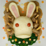 Thumbnail image for Non-bento #25: fun with Rabbid #3 – mashed potato