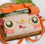 Thumbnail image for Non-bento #50: Tearaway (atoi & iota) turkey sandwich