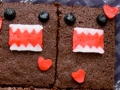 How to make Domo-kun brownies
