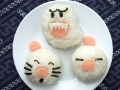 Non-bento #17: Moogle and Boo Ghost onigiri