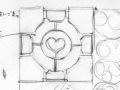 Bento #20: Portal Companion Cube & Cake