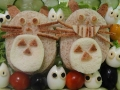 Totoro sandwiches by RabbitCanCook, Created/posted on 1/28/2012