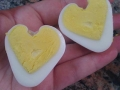Heart shaped eggs by Jennifer, Created/posted on 2/10/2012